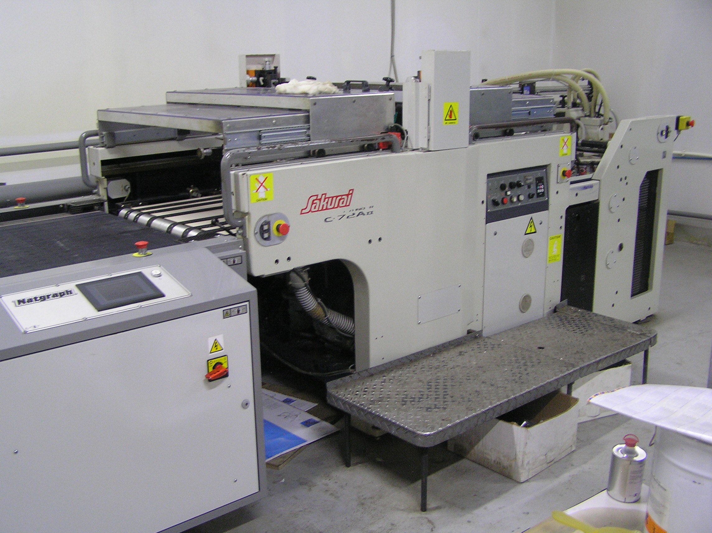 Sakurai  SC72A2 with UV dryer - 2006